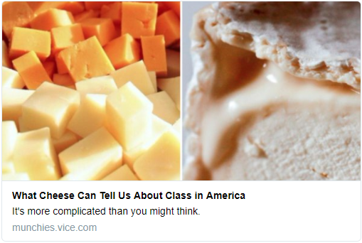 Class and Cheese in America